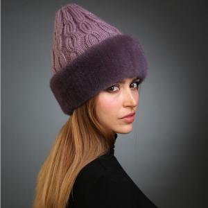 Боярская вязаная шапка с натуральным мехом - мода для русской зимы
